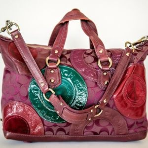 Coach Patchwork Bag with removable Shoulder Strap